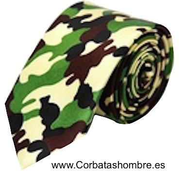 CORBATA CAZADOR DE CAMUFLAGE ESTRECHA